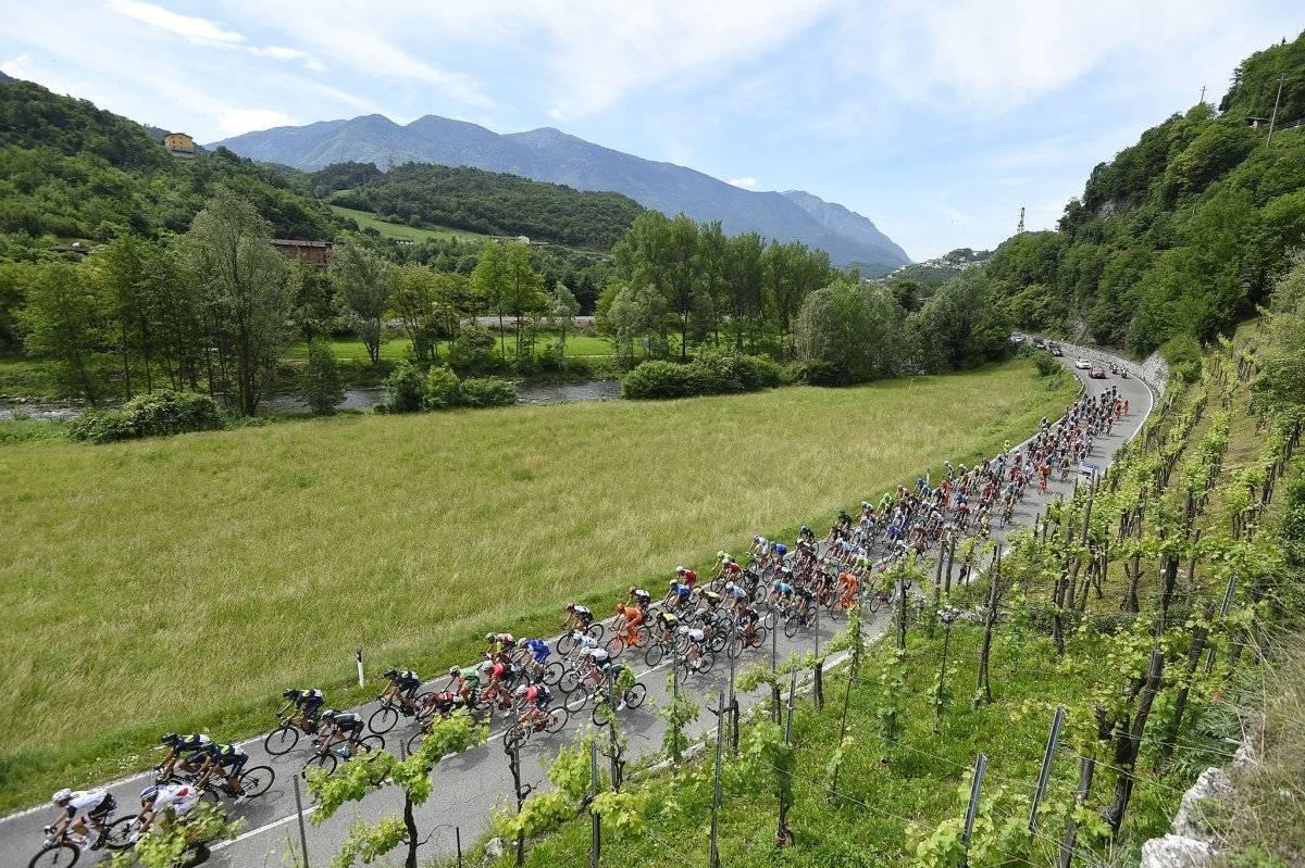 Una panorámica durante una etapa del Giro