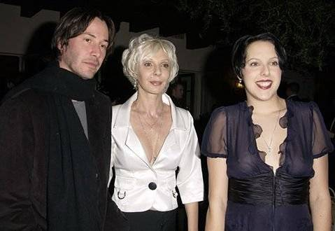 Keanu Reeeves, su madre y hermana