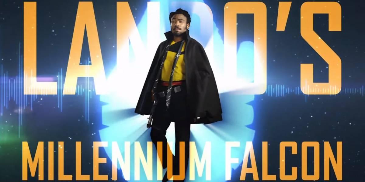 Lando te da un tour por su Halcón Milenario en Solo: A Star Wars Story