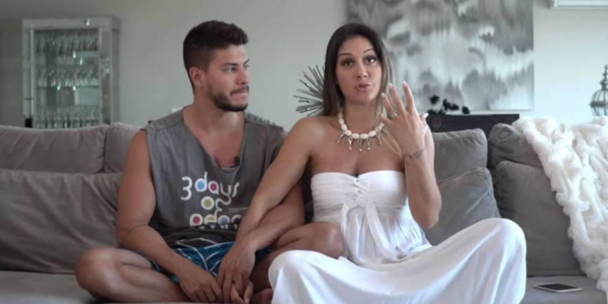 Arthur Aguiar e Mayra Cardi revelam nome e sexo do bebê em vídeo