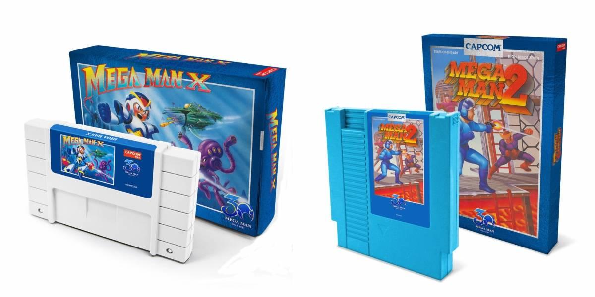 Estos nostálgicos cartuchos especiales de Mega Man X y Mega Man 2 son muy bonitos y caros