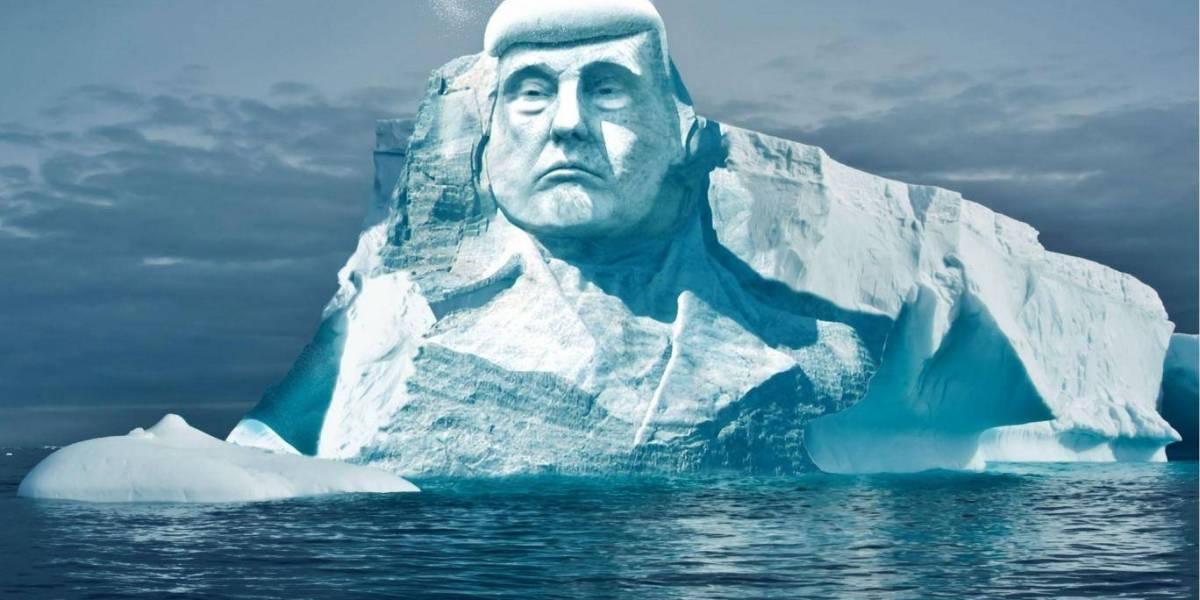 Con tal de derretir la cara de Trump: grupo ecologista busca tallar la cara del presidente en un iceberg para mostrar el calentamiento global