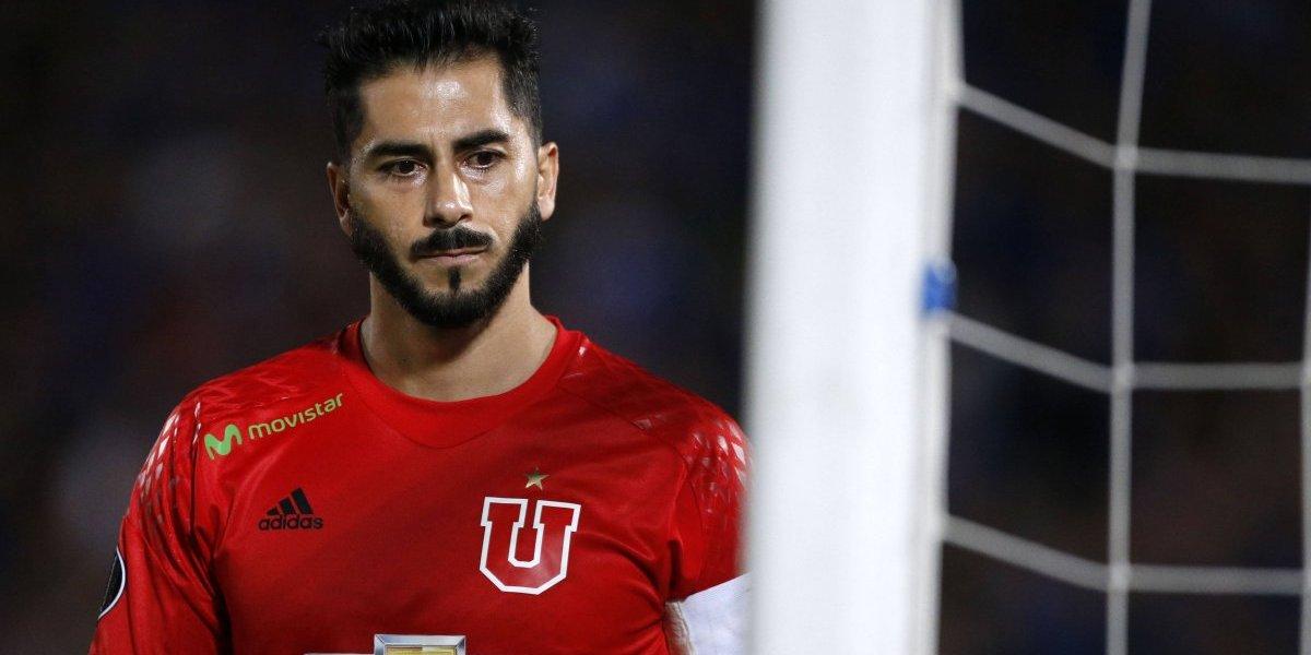 Johnny Herrera evoluciona de su lesión y será de la partida en la U ante Racing por la Libertadores