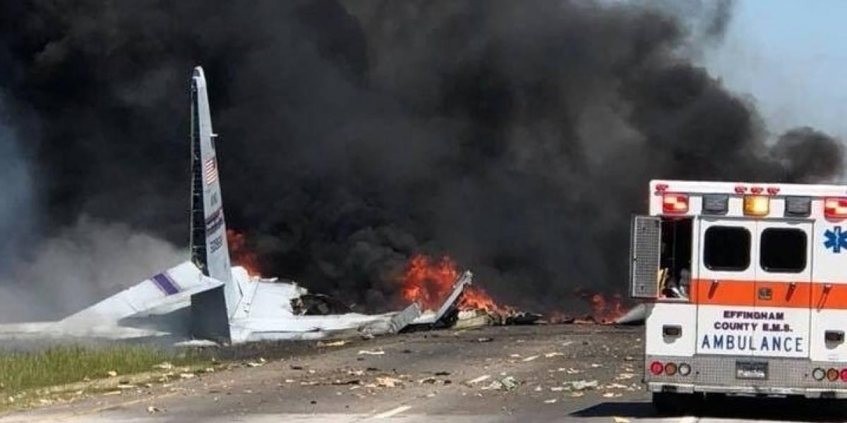 Reportan muertos en accidente de avión militar con boricuas a bordo