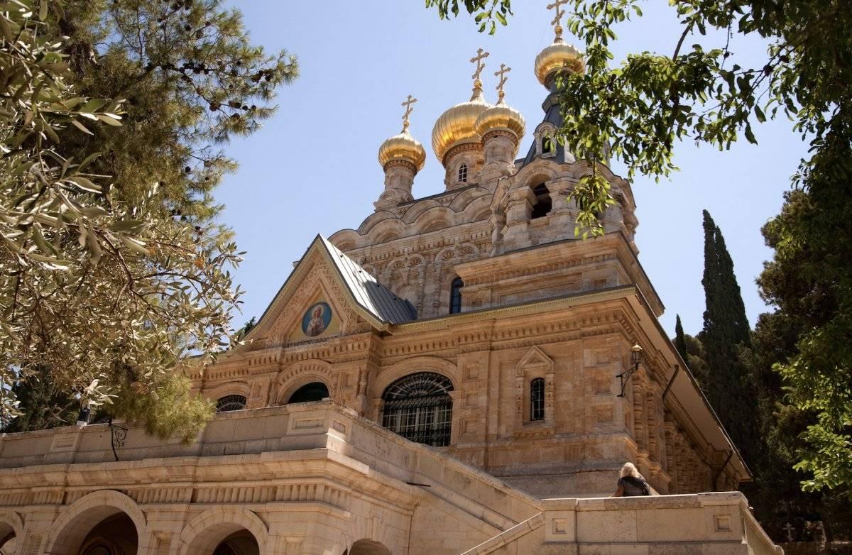 Vista exterior de la Iglesia de María Magdalena en Jerusalén. Noam Chen / Turismo de Israel