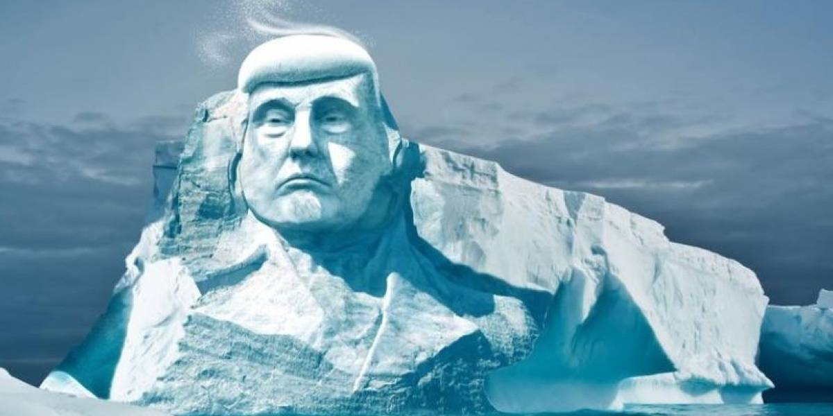 Insólito: Un grupo va a tallar la cara de Trump en un iceberg