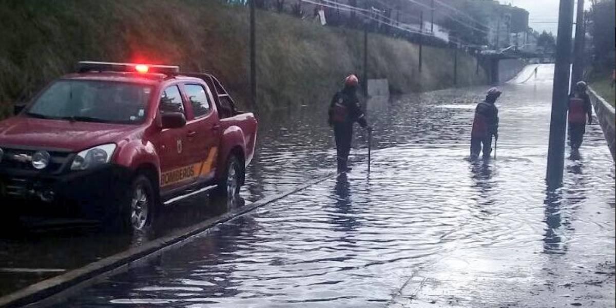 10 emergencias se reportaron en Quito por lluvia