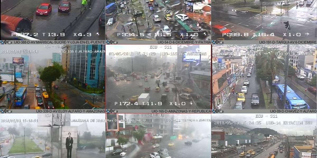 Lluvia afecta a varios sectores de Quito