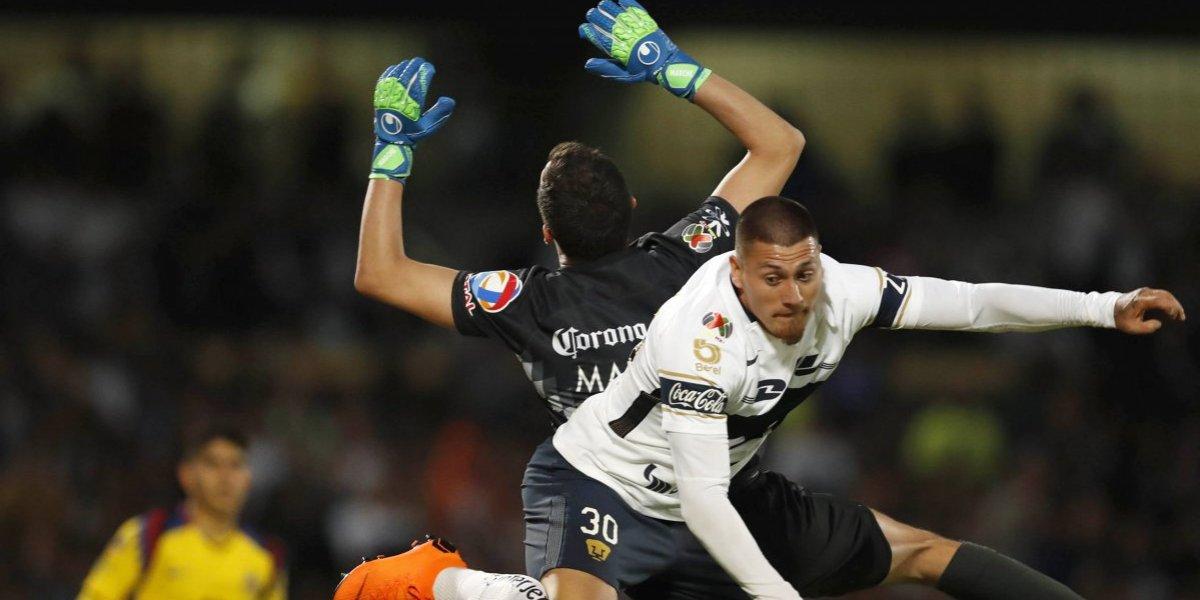 Pumas de Nico Castillo y Marcelo Díaz sufrió dura goleada ante América en los playoffs de la Liga MX