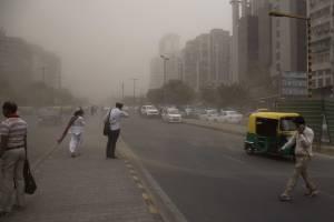 Tormenta de arena en la India