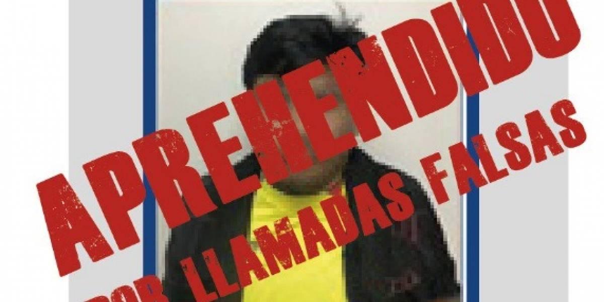 Un ciudadano fue aprehendido por realizar llamadas falsas