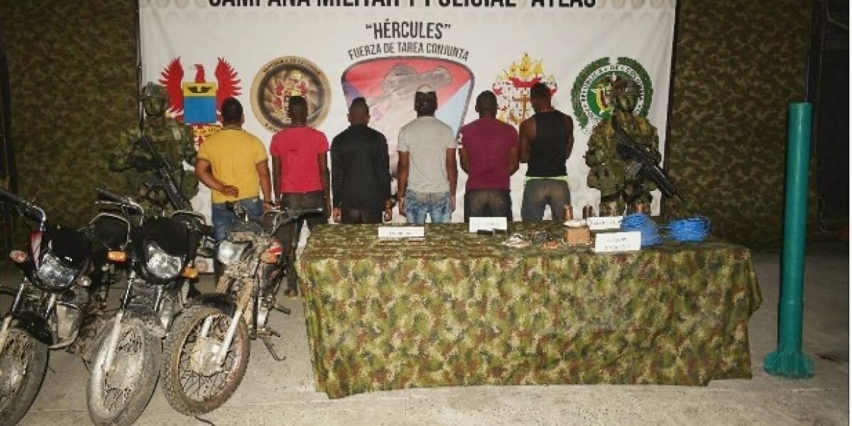Capturan a seis miembros del frente Oliver Sinisterra liderados por 'Guacho'