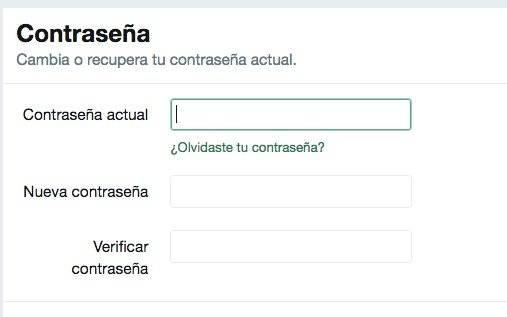 ¿Cómo cambiar la contraseña en Twitter?
