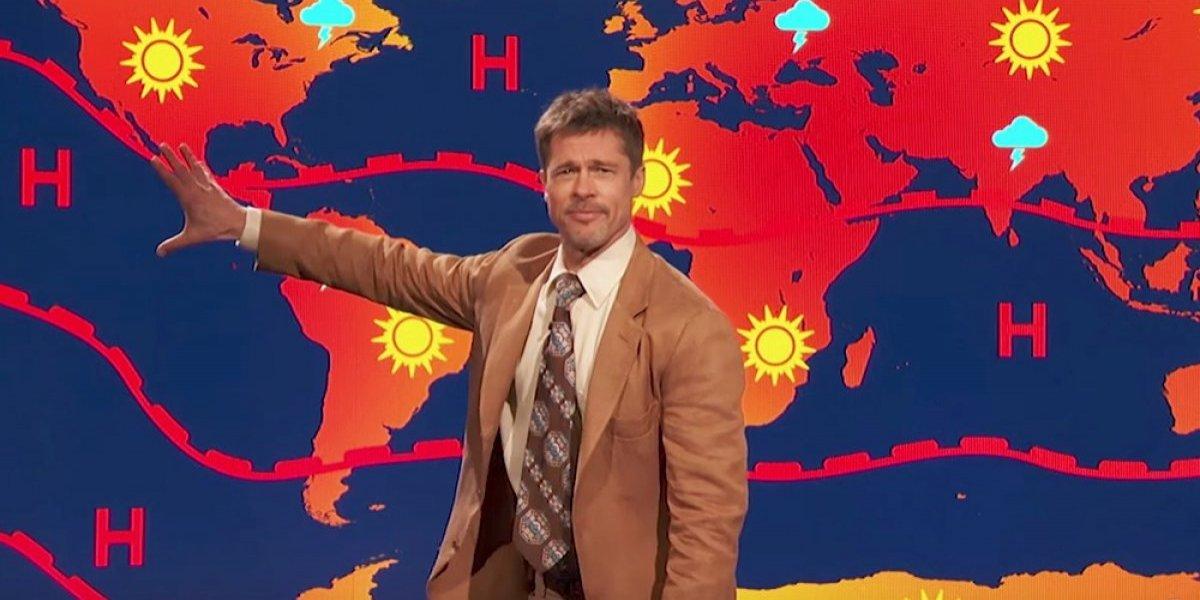 ¿Brad Pitt estrena un nuevo trabajo como presentador del clima?