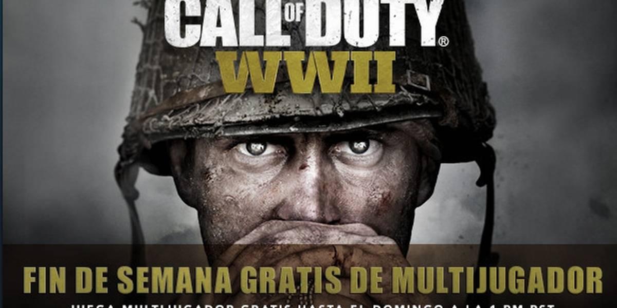 El multijugador de Call of Duty: WWII se puede jugar gratis este fin de semana en PC