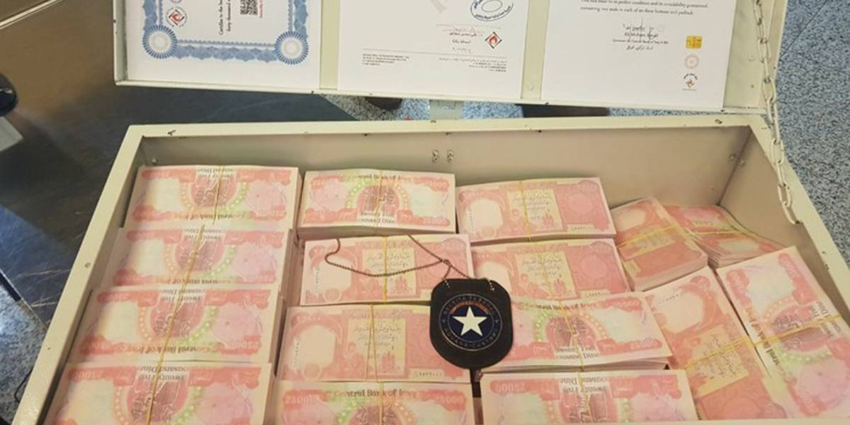 Alfândega apreende cerca de R$ 3 milhões em moeda iraquiana falsa