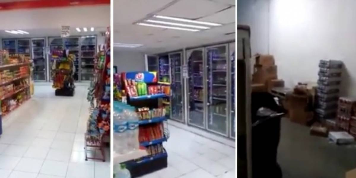 """VIDEO. Evento""""paranormal"""" asusta a empleados de tienda"""