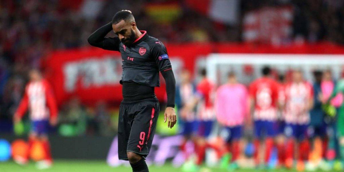 Arsenal completó su fracaso total al caer ante Atlético de Madrid y quedó fuera de la final de la Europa League