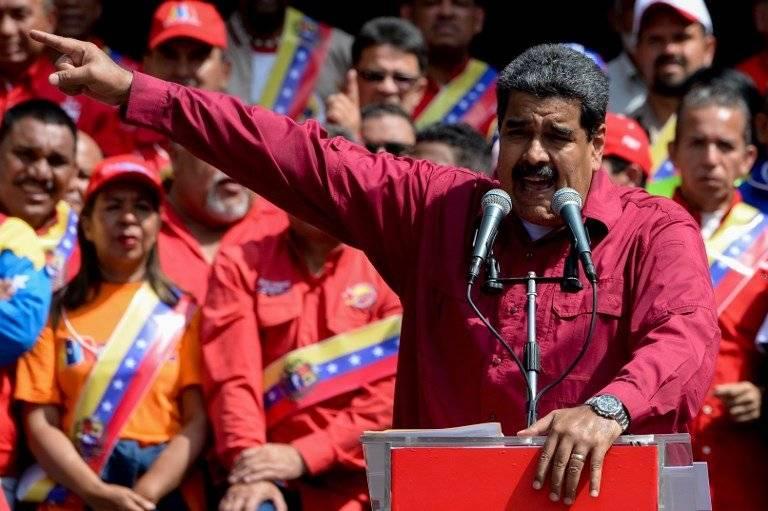 Nicolás Maduro pronunciando un discurso