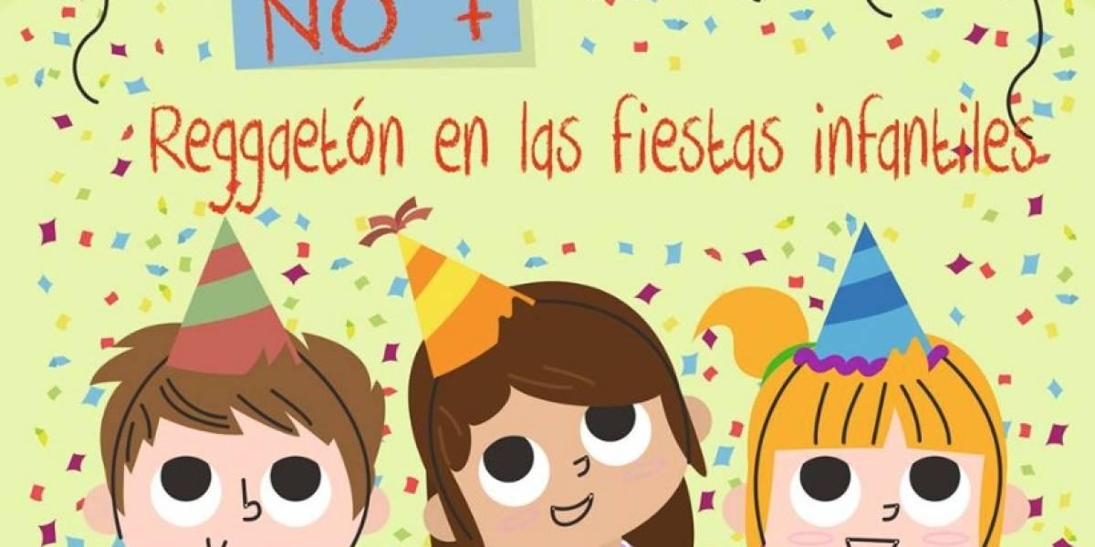Campaña en Facebook: 'No más reguetón en las fiestas infantiles'