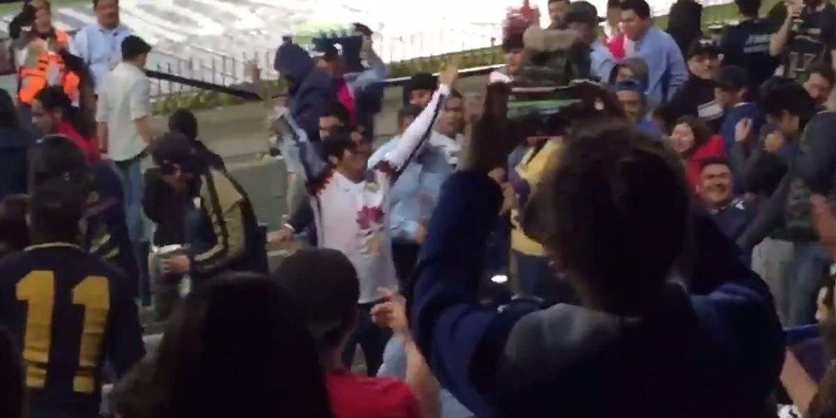 Aficionado del América es agredido por seguidores de Pumas