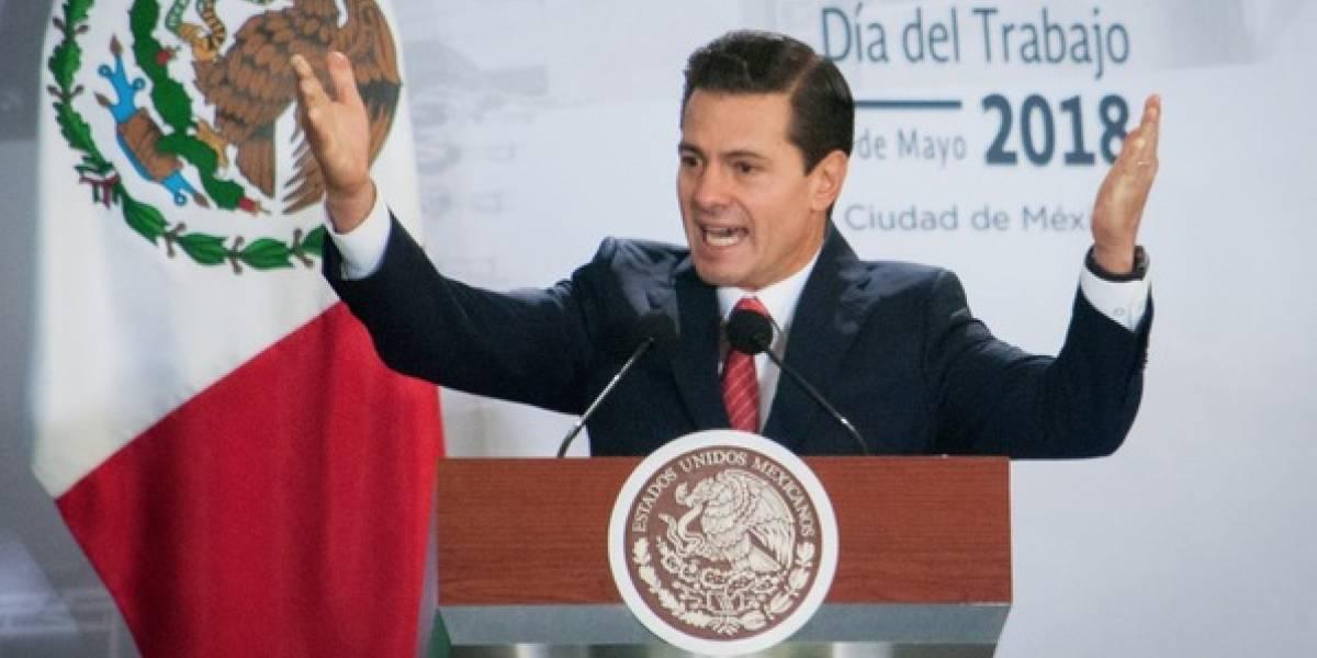 Así felicitó Peña Nieto a los albañiles en su día