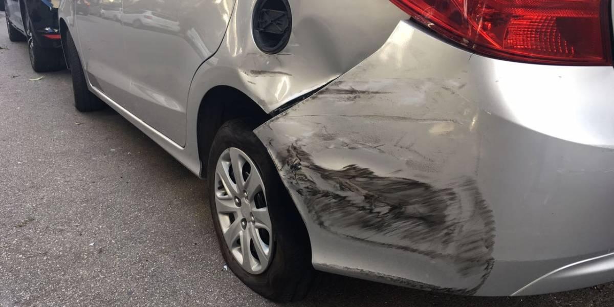 Fotos mostram estrago em carros atingidos pelo veículo de Fábio Assunção