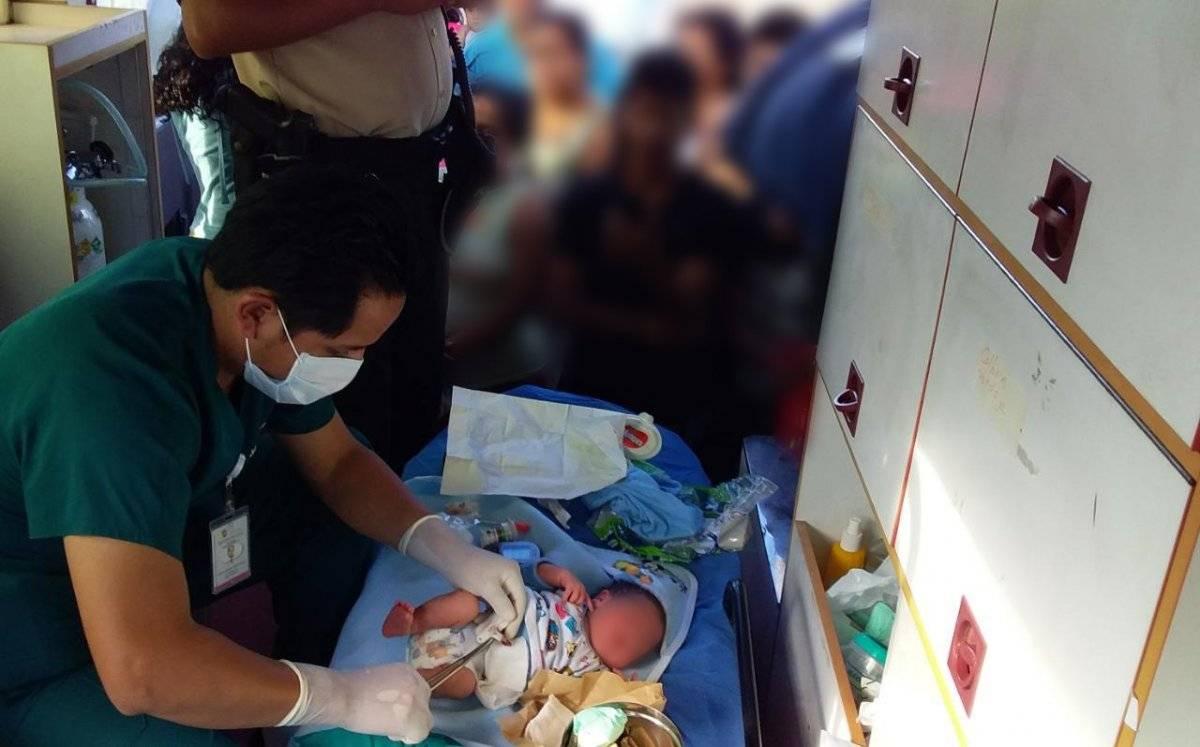 Rescate recién nacido