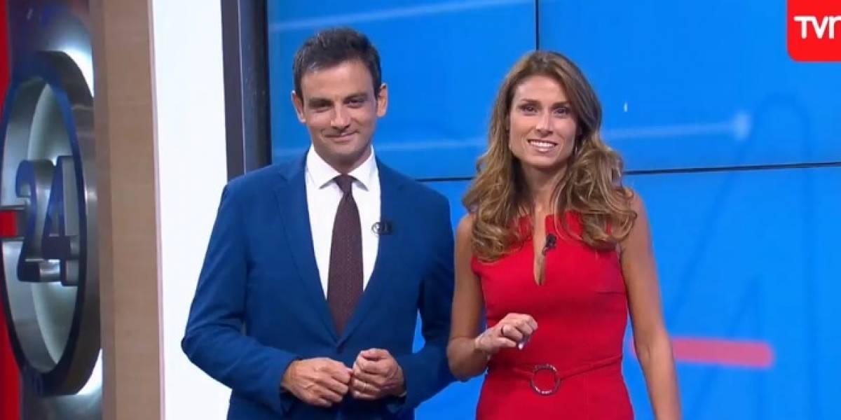 Gonzalo Ramírez y Carolina Escobar dijeron adiós al noticiero de las tardes de TVN