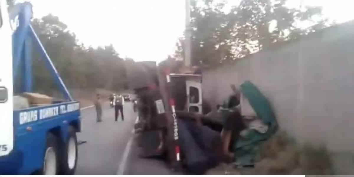 Accidentes complican el tránsito este viernes en varias rutas del país
