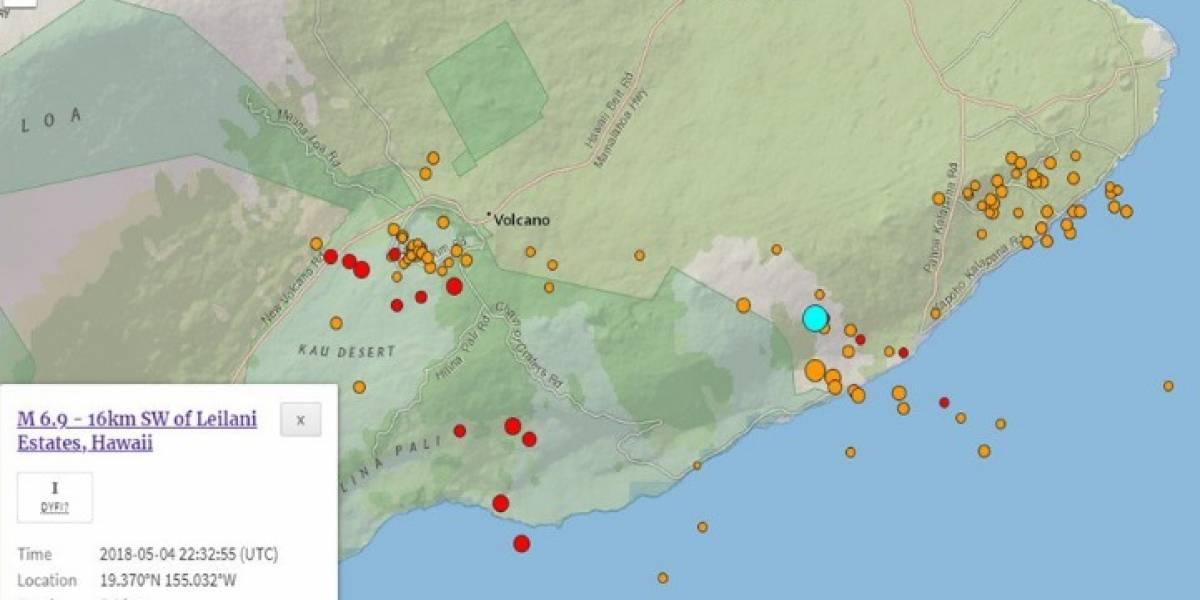 Impactantes imágenes de erupción de volcán en Hawaii