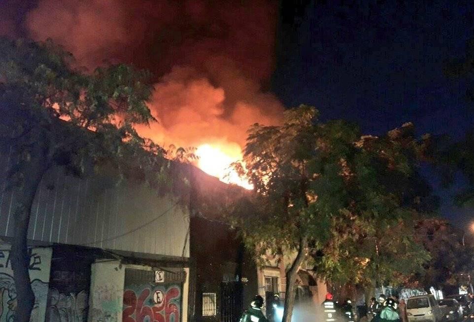 Incendio en Santiago Centro