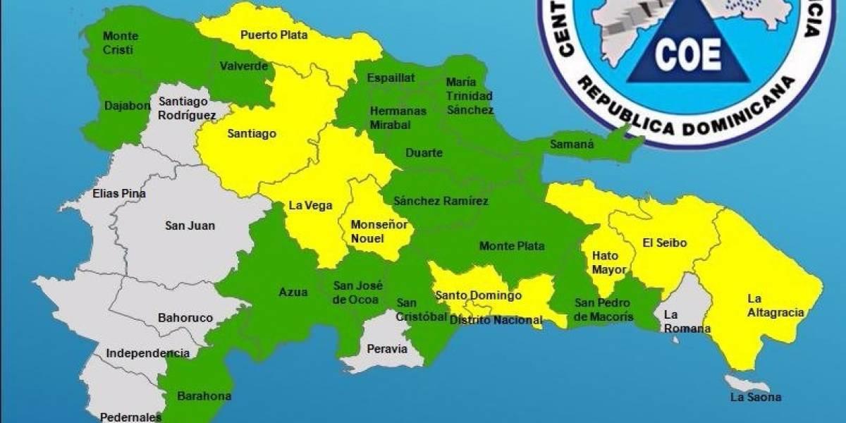 Veintitrés provincias en alerta por intensas lluvias