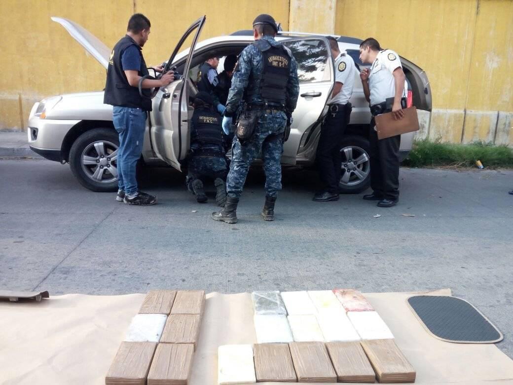localizan cocaína en Antigua Guatemala