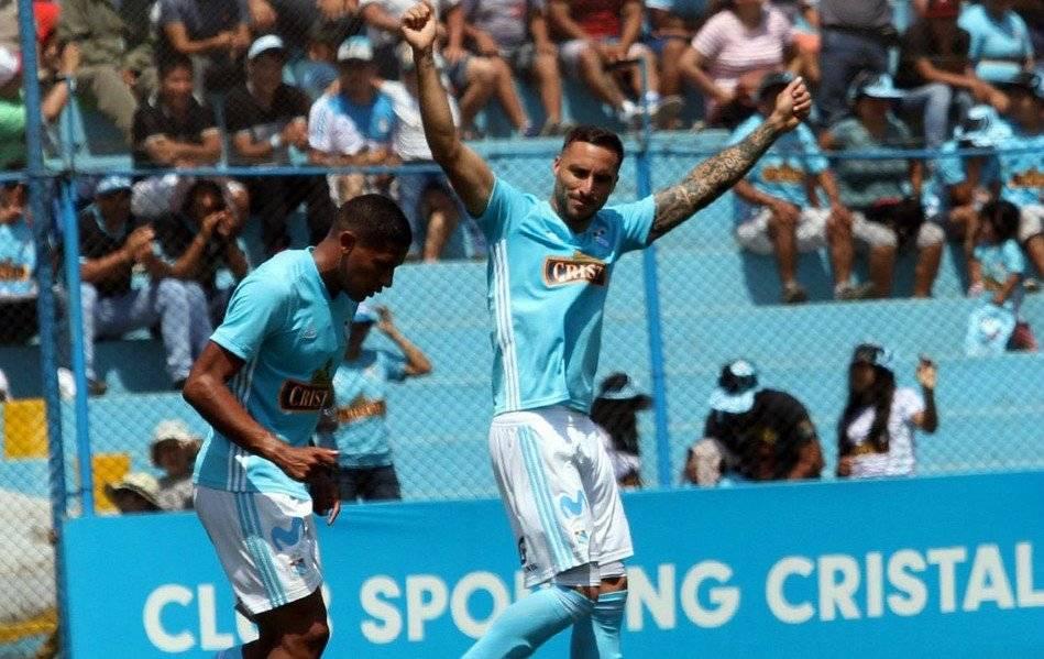 Emanuel Herrera, ex Deportes Concepción y Unión Española, es la principal carta de gol del Sporting Cristal de Mario Salas / Foto: @ClubSCristal