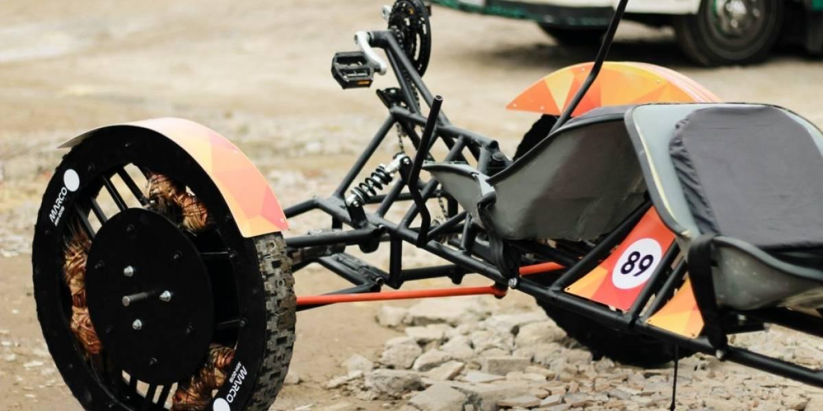 Este vehículo construido por estudiantes colombianos logró participar en una competencia internacional de la NASA