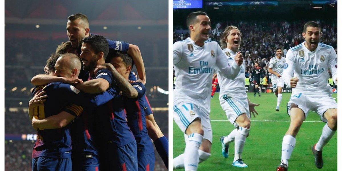 El Barcelona y el Real Madrid se medirán en el Clásico de los invencibles