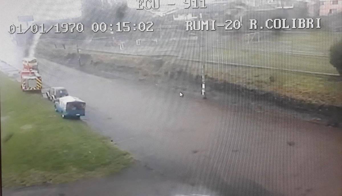 Se registra acumulación de agua en el cantón Rumiñahui ECU 911
