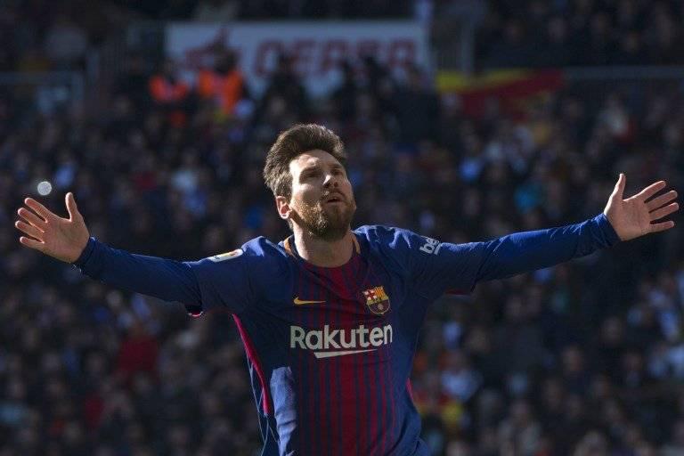 Messi celebra su gol en el último clásico