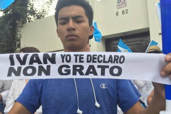Manifestación contra CICIG