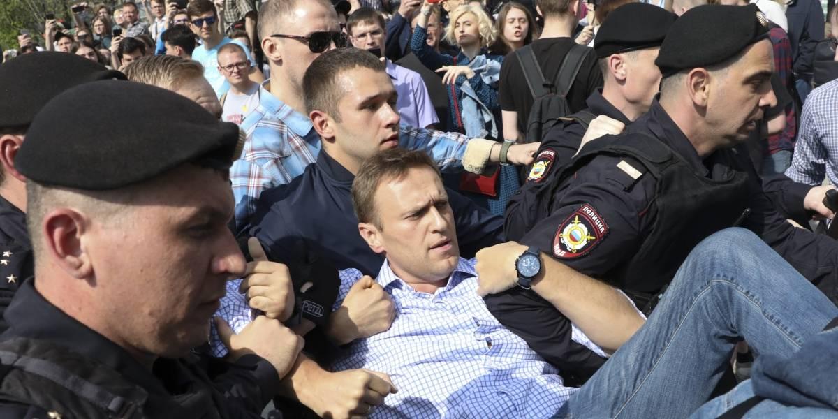 Líder opositor Alexéi Navalni detenido en Moscú en manifestación contra Putin