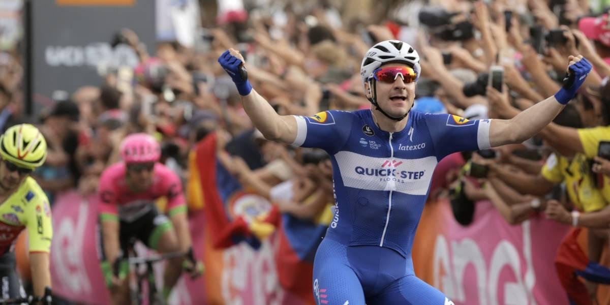 Giro de Italia: Ellia Viviani gana la etapa y Rohan Denis se puso la Maglia Rosa de líder