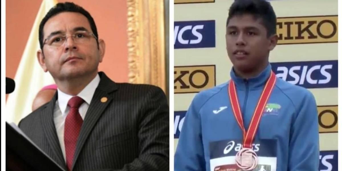Presidente Morales envía felicitación a deportista, pero confunde la distancia