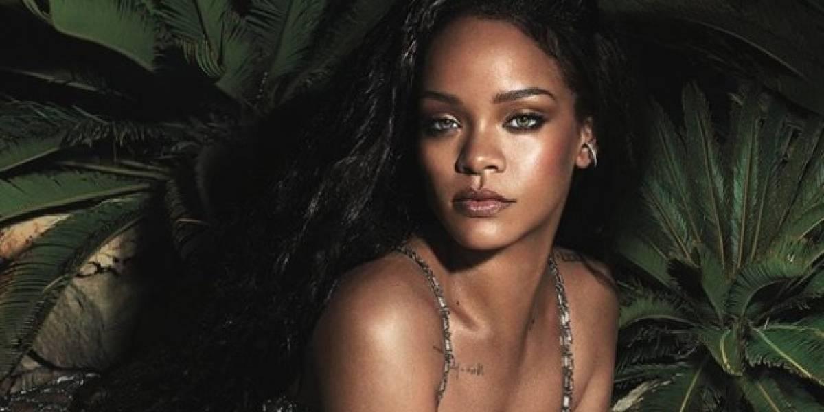 Rihanna muestra en foto al natural sus estrías y vellocidad