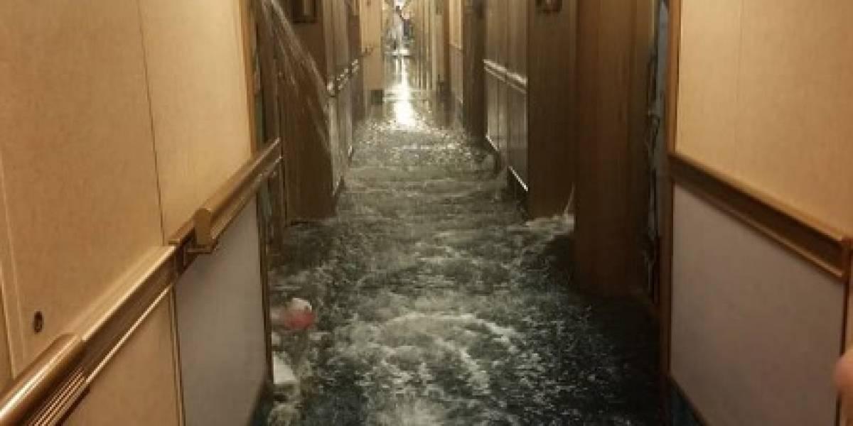 ¡Al estilo Titanic! Crucero se inunda por falla en el sistema contra incendios