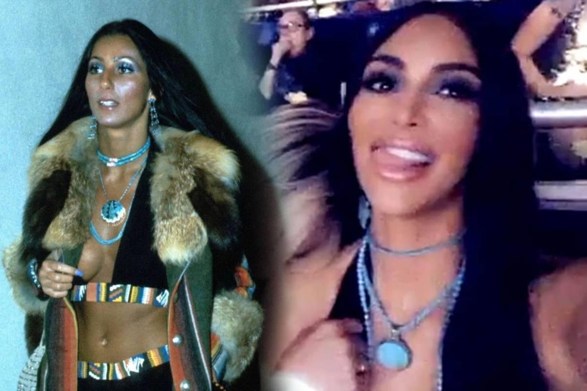 Fotos De Cher kim kardashian se viste como cher para asistir a uno de sus