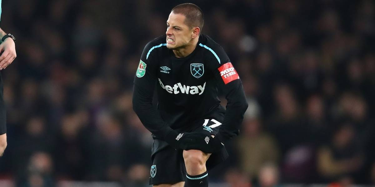 'Chicharito' está lesionado y se perdió la victoria del West Ham
