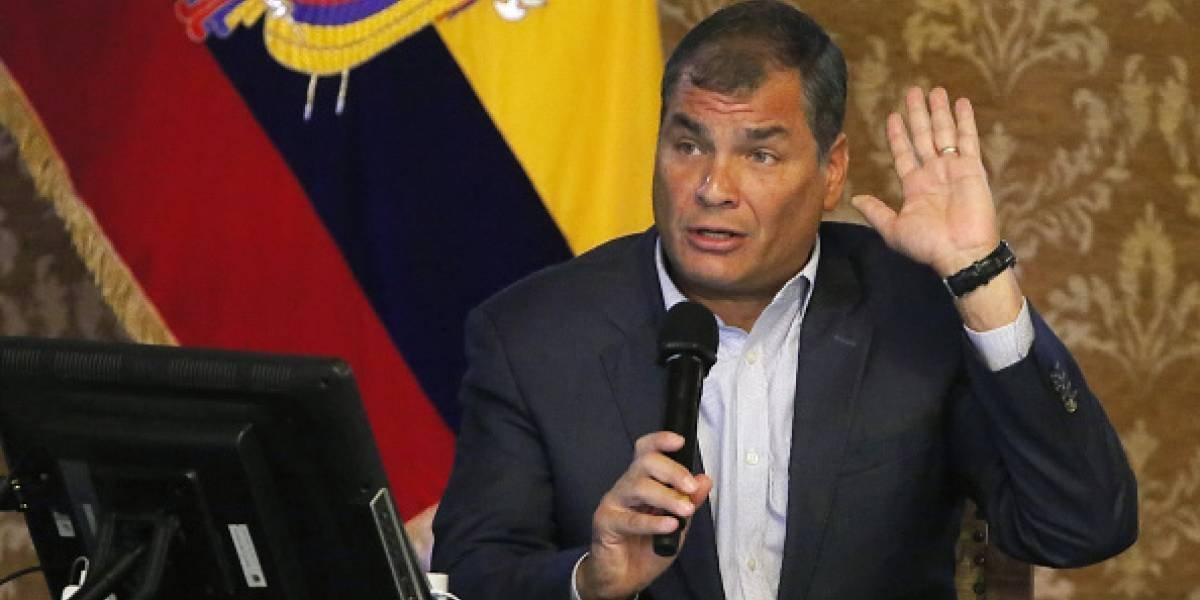 """Rafael Correa:  """"La historia va a ser despiadada con los traidores, nosotros debemos organizarnos y estar más unidos que nunca"""""""