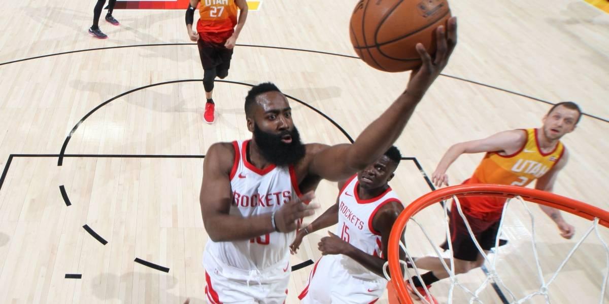 NBA: Houston Rockets aplastó a Utah Jazz tras soberbia actuación de Harden y Gordon