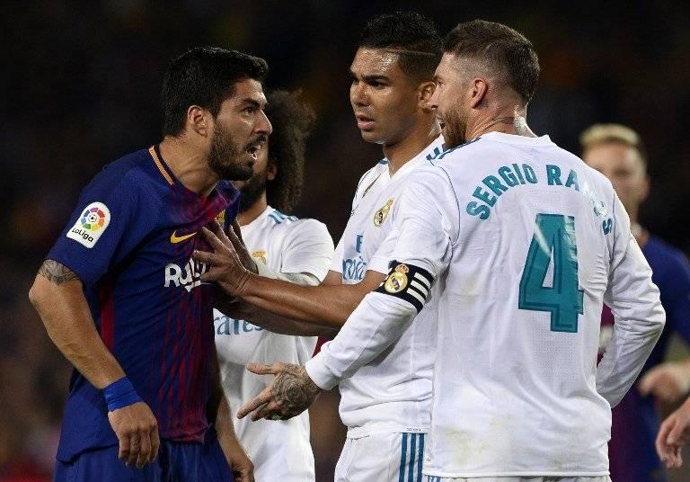 Suárez tuvo una confrontación con Ramos